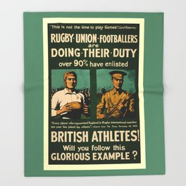 British rugby, football players call for duty Throw Blanket