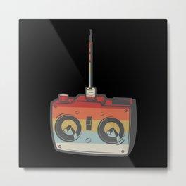 Remote RC Car Model Retro Metal Print