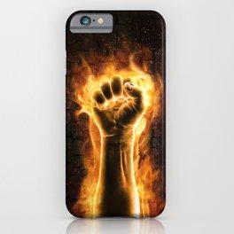 Fire fist iPhone Case