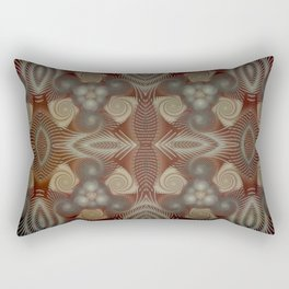 Whirling spirals in earthy early painting style Rectangular Pillow
