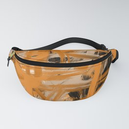Orange & Taupe Abstract Fanny Pack
