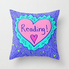 Reading! Throw Pillow