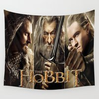 hobbit Wall Tapestries featuring  Hobbit by ira gora