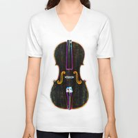 cello V-neck T-shirts featuring Cello by J.Lauren