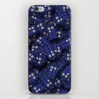 doctor iPhone & iPod Skins featuring Tardis by 10813 Apparel