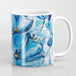 Abstract Blue Poppies Coffee Mug