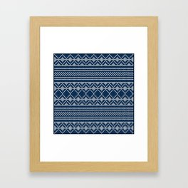 Scandinavian knitted pattern Framed Art Print