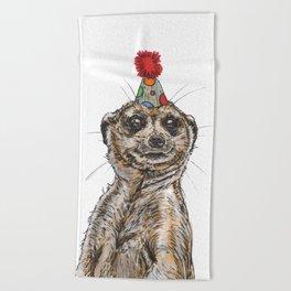 Meerkat Party Beach Towel
