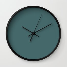 Dark Teal Turquoise Solid Color Wall Clock