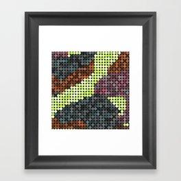 Circular PIxels Framed Art Print