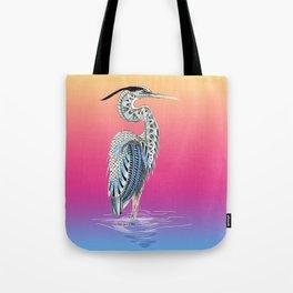 Great Blue Heron Totem Tote Bag