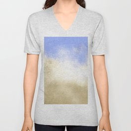 Ocean Waves Abstract Unisex V-Neck