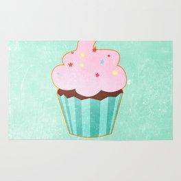 Cupcake tasty, sweet illustration Rug