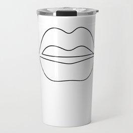 abstract lip Travel Mug