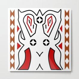 Traditional Art Torajan Pattern Metal Print