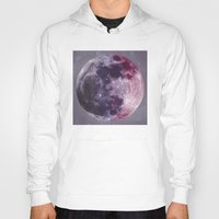 moon phases Hoodies featuring Phases of the Moon by De(b)sign