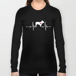 French Bulldog dog heartbeat Long Sleeve T-shirt