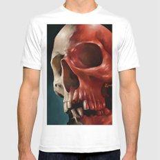 Skull 9 White MEDIUM Mens Fitted Tee