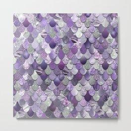Mermaid Purple and Silver Metal Print