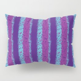 Messy Stripes in Purple, Fuchsia and Blue Pillow Sham