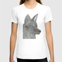 coyote T-shirts featuring Coyote by Amber Lundy Leigh
