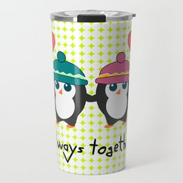 Cute penguins always together Travel Mug
