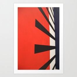 Red piano rising sun art Art Print