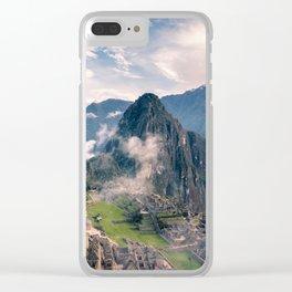 Mountain Peru Clear iPhone Case