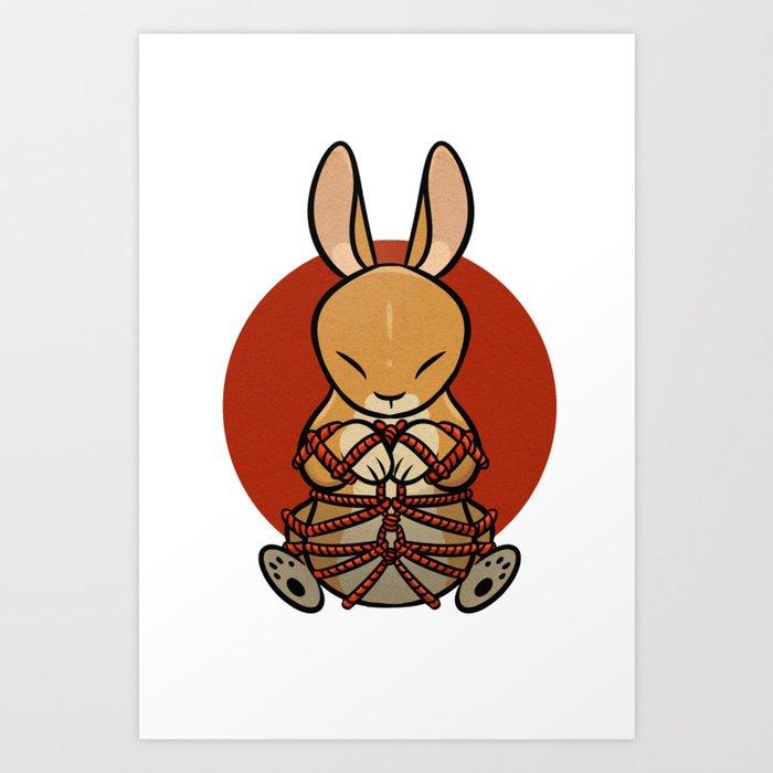 Rope Bunny Kunstdrucke