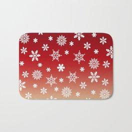 Snow Flurries-Red/Cream Ombre Bath Mat