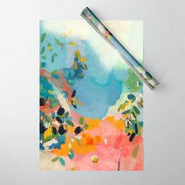 garden with sea view and olive tree Wrapping Paper
