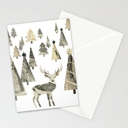 Winter Woods, collage Stationery Cards