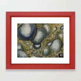 Shoreline Rocks Framed Art Print