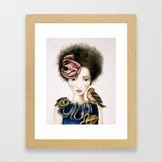 rose and the bird Framed Art Print