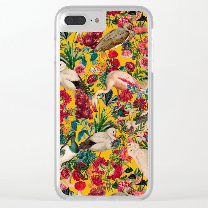 FLORAL AND BIRDS XVIII Clear iPhone Case