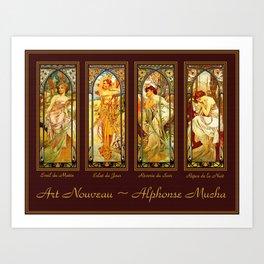 Vintage Art Nouveau - Alphonse Mucha Art Print