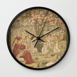 The Pied Piper of Hamelin - Robert Browning Wall Clock