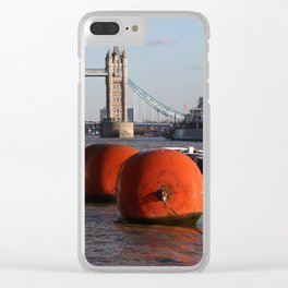 The River Thames, London, England Clear iPhone Case