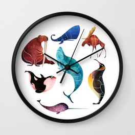 Arctic animals Wall Clock