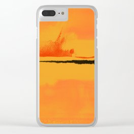 black&orange Clear iPhone Case