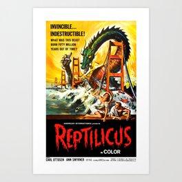 Reptilicus Art Print