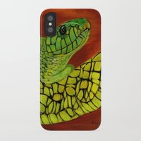 snake iPhone & iPod Cases featuring Snake by maggs326