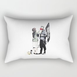 Banksy, Punk with mother Rectangular Pillow