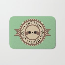 Certified Crazy Sloth Man Bath Mat