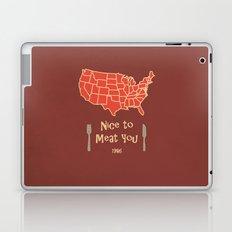 Nice to Meat You USA Map Laptop & iPad Skin