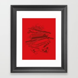 Serial Killer Toolbox Framed Art Print
