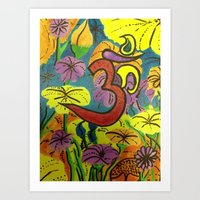 namaste Art Prints featuring Namaste by Manuel Estrela 113 Art Miami