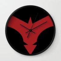 nightwing Wall Clocks featuring Nightwing 52 by Sdog1982