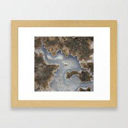 Abstract Rhyolite & Agate Framed Art Print