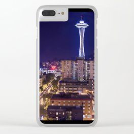 Seattle Night View Clear iPhone Case